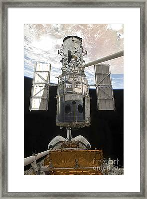 The Hubble Space Telescope Is Released Framed Print by Stocktrek Images