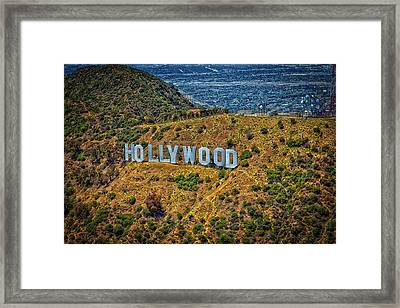 The Iconic Hollywood Sign Framed Print by Mountain Dreams