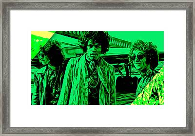 The Jimi Hendrix Experience Collection Framed Print by Marvin Blaine
