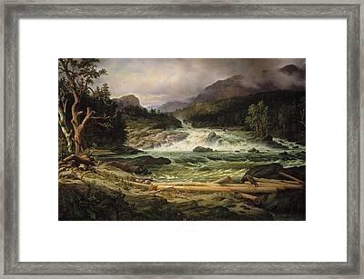 The Labro Falls At Kongsberg Framed Print
