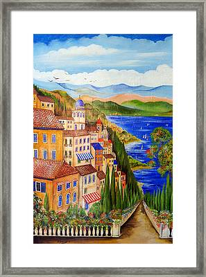 Framed Print featuring the painting The Lake by Roberto Gagliardi