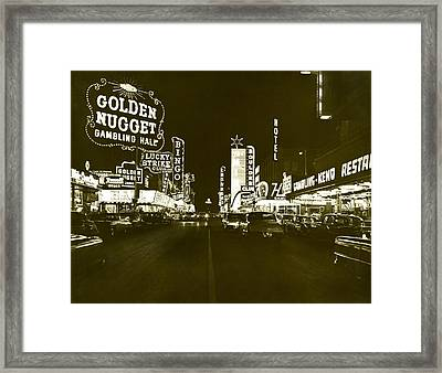 The Las Vegas Strip Framed Print by Underwood Archives