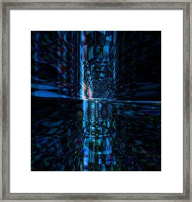 Framed Print featuring the glass art The Light by Fania Simon