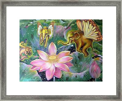 Framed Print featuring the painting The Light Of Buddhism by Chonkhet Phanwichien