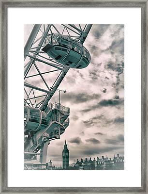 The London Eye Framed Print by Martin Newman