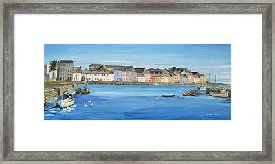 The Long Walk Galway Ireland Framed Print