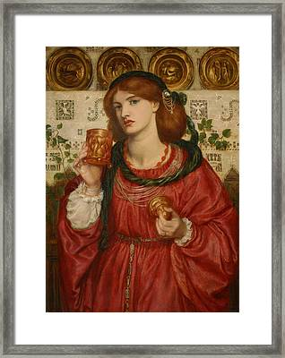 The Loving Cup Framed Print by Dante Gabriel Rossetti