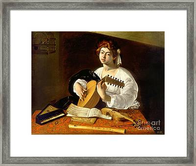 The Lute-player Framed Print by Celestial Images