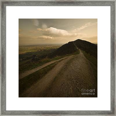 The Malvern Hills Framed Print by Angel Ciesniarska