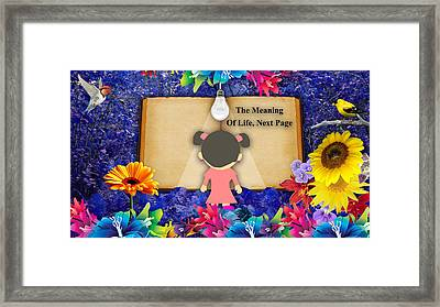 The Meaning Of Life Art Framed Print by Marvin Blaine