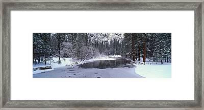 The Merced River In Winter, Yosemite Framed Print