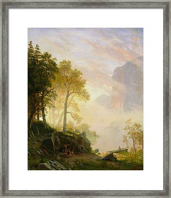 The Merced River In Yosemite Framed Print by Albert Bierstadt