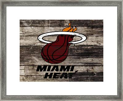 The Miami Heat Framed Print