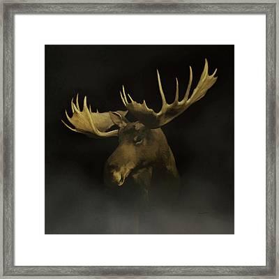 The Moose Framed Print by Ernie Echols