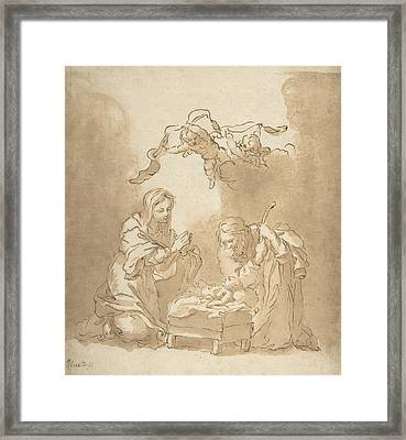 The Nativity Framed Print by Bartolome Esteban Murillo