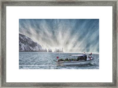 The Needles Framed Print by Martin Newman
