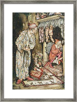 The Night Before Christmas Framed Print by Arthur Rackham