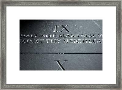 The Ninth Commandment Framed Print