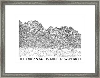 Framed Print featuring the painting The Organ Mountains by Jack Pumphrey