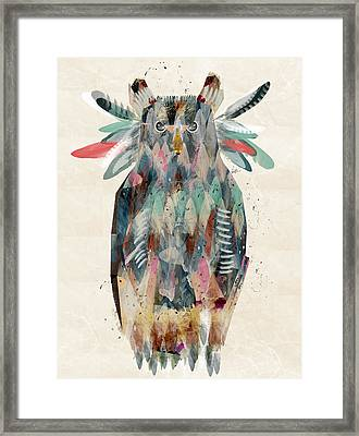 The Owl Framed Print by Bri B