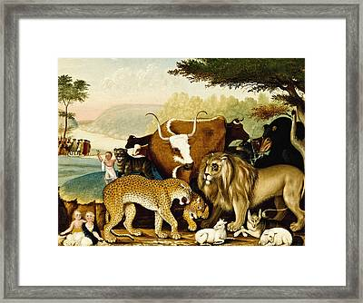 The Peaceable Kingdom Framed Print by Edward Hicks