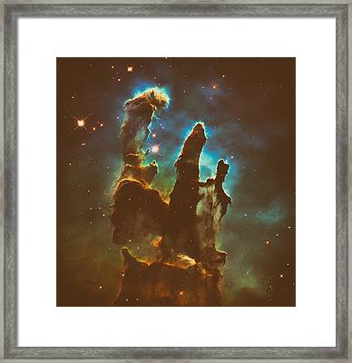 The Pillars Of Creation Framed Print by Mountain Dreams