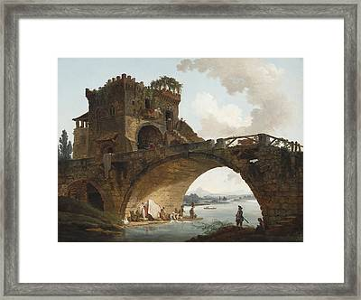 The Ponte Salario Framed Print
