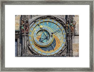 The Prague Astronomical Clock, Or Prague Orloj In Prague, Czech Republic Framed Print by Michal Bednarek