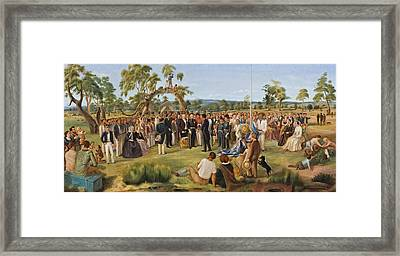 The Proclamation Of South Australia 1836 Framed Print by Mountain Dreams