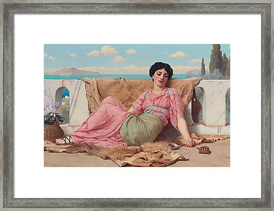 The Quiet Pet Framed Print by John William Godward