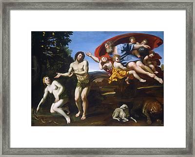 The Rebuke Of Adam And Eve Framed Print