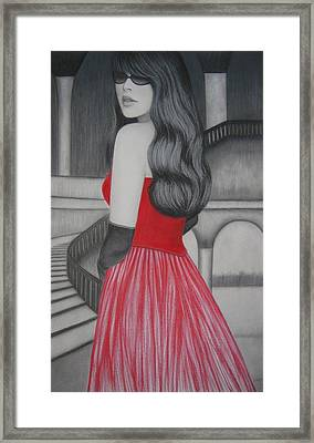 The Red Dress Framed Print
