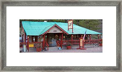 Framed Print featuring the photograph The Rendezvous Diner by Juls Adams