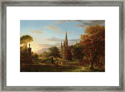 The Return Framed Print by Thomas Cole