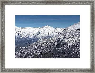 Framed Print featuring the photograph The Rockies Landscape by Josef Pittner