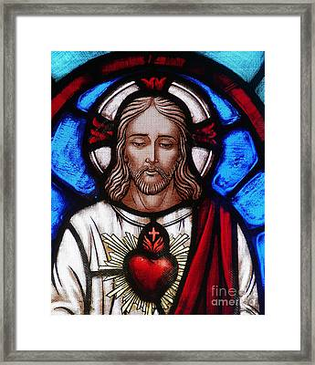 The Sacred Heart Of Jesus Framed Print