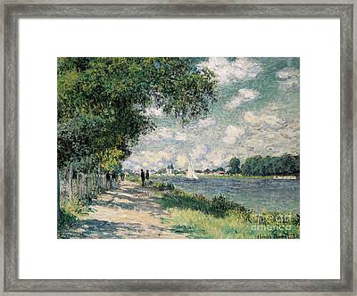 The Seine At Argenteuil Framed Print by Claude Monet