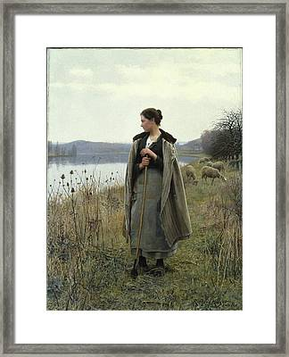 The Shepherdess Of Rolleboise Framed Print by MotionAge Designs