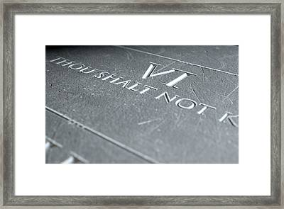 The Sixth Commandment Framed Print by Allan Swart