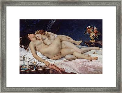 The Sleepers Framed Print by Gustave Courbet