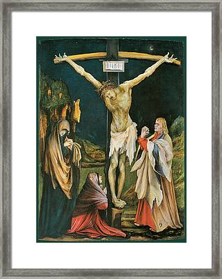 The Small Crucifixion Framed Print by Matthias Grunewald