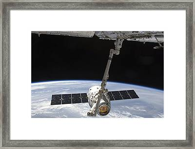 The Spacex Dragon Cargo Craft Framed Print by Stocktrek Images