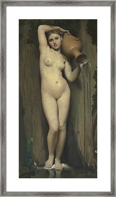 The Spring Framed Print by Jean-Auguste-Dominique Ingres