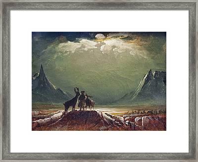The Tempest Framed Print by Peder Balke