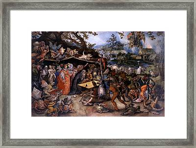 The Temptation Of Saint Anthony Framed Print by Jan Brueghel the Elder