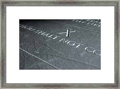 The Tenth Commandment Framed Print by Allan Swart