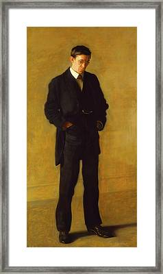 The Thinker - Portrait Of Louis N Kenton Framed Print by Thomas Eakins
