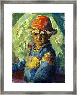 The Tibetan Boy Framed Print
