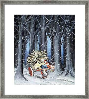 The Town Mouse And The Country Mouse Framed Print