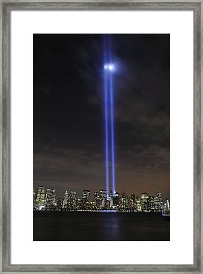 The Tribute In Light Memorial Framed Print by Stocktrek Images